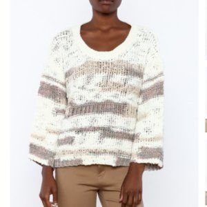 LUSH LOOSE KNIT SWEATER WITH BACK OPENING